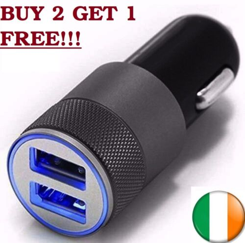 Car Dual USB Universal Twin Port Charger Adapter Plug For iPhone Samsung
