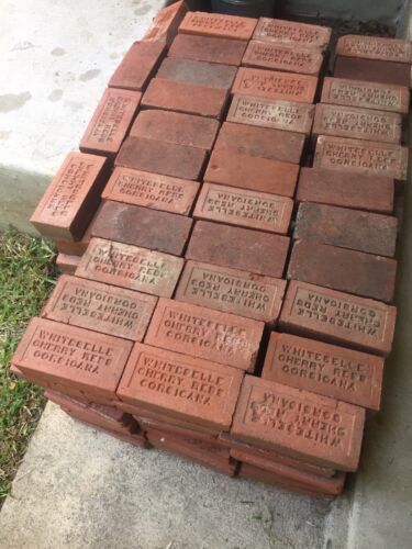 Antique Vintage Reclaimed WHITESELLE CHERRY REDS CORSICANA Red Paver Bricks