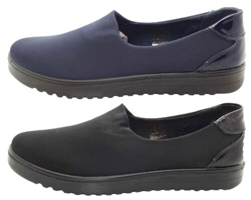 New Women Mocassins Ladies Loafer Casual Comfy Slider Work Comfort Cushion Shoes