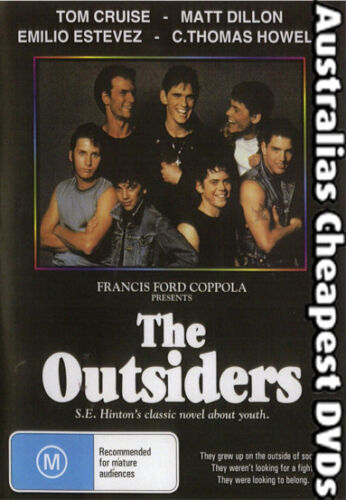 The Outsiders DVD NEW, FREE POSTAGE IN AUSTRALIA REGION ALL