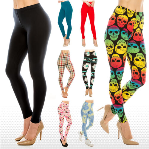 Womens Ultra Soft Premium Leggings (Patterned and Solid)