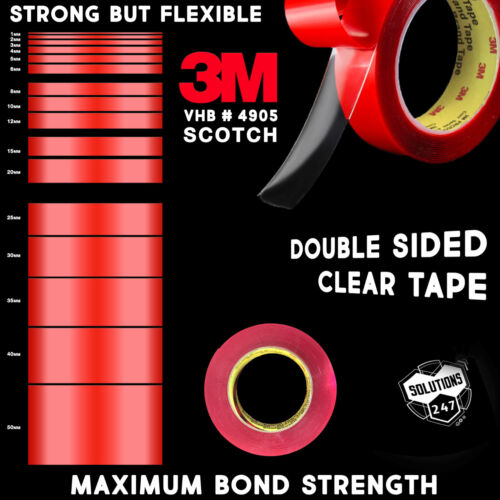 3m Vhb 4905 Double Sided Mounting Tape Transparent Clear Long 10m / 33ft Length