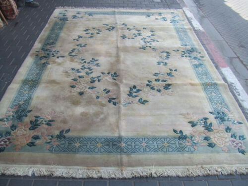 Beautiful hand-woven Chinese Antiques Carpet rug 310x200-cm /122.0x78.7-inches