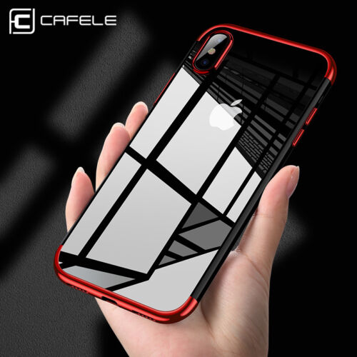 For iPhone X Xs Max Xr 8 Shockproof Plating Clear Slim Hybrid Bumper Case Cover