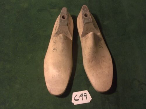VINTAGE PAIR Maple Size 9-1/2 C LOAFER WOODRIGHT Industrial Shoe Last Mold #C-99