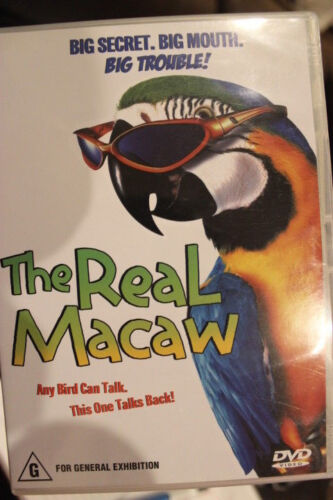 THE REAL MACAW RARE DELETED OOP DVD JAMIE CROFT & JASON ROBARDS CHILDREN'S FILM