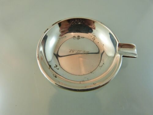 PLAIN PERSONAL SILVER .800 ASH TRAY BY HEINRICH MOHR GERMANY