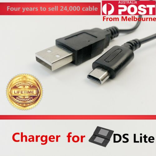 USB Data Charger Charging Power Cable Cord for Nintendo DS Lite DSL NDSL USG-001 <br/> Continued sales in Melbourne 5 years &Sent the same day