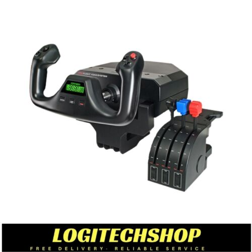 LOGITECH Flight Yoke System Professional Simulation Yoke & Throttle Quadrant -PC