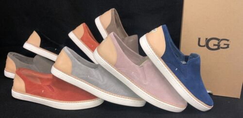 Ugg Australia Adley Perf Women's Fashion Sneakers Suede Leather Slip On 1018375