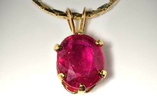 Gold Ruby Pendant 2¼ct+ Antique 19thC Medieval Magical Medicine Anti-Poison 14kt