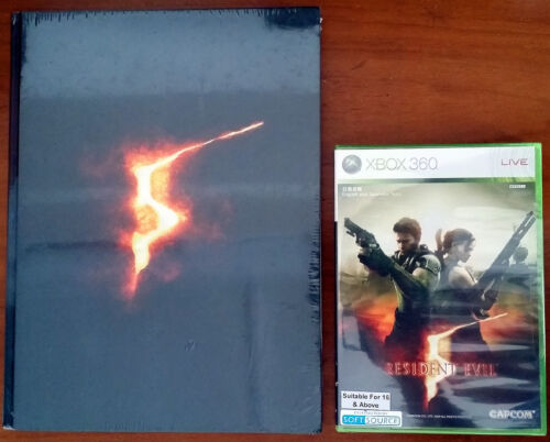 Xbox 360 - Resident Evil 5 c/w Collector's Edition Strategy Guide - Both New