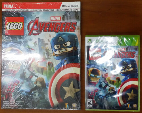 Xbox 360 - Lego Marvel's Avengers c/w Official Guide - Both New