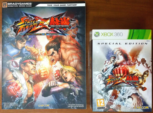 Xbox 360 Game - StreetFighter X Tekken (Special Ed) /w Official Guide - Both New