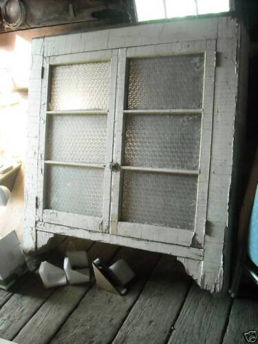 OLD Antique Primitive Shabby Hanging Cupboard Chippy