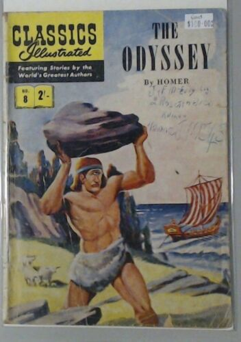 CLASSICS ILLUSTRATED THE ODYSSEY BY HOMER #8 ONE EYED MAN COMIC BOOK