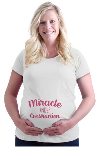 Maternity Miracle Under Construction Funny Cute Mom Pregnant Pregnancy T-Shirt