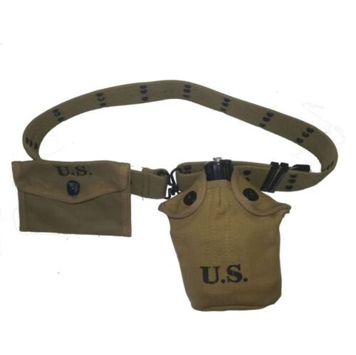 WW2 US Army Field  Gear 1911 Holster Belt M1 First Aid Kit Cell Pouch Hi-Q 1943