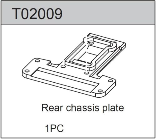TEAM C T02009 Rear Chassis Plate