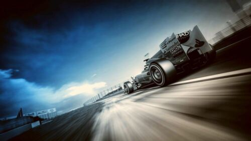 Formula 1 Racing car world's fastest Quality wall Art poster Choose your Size