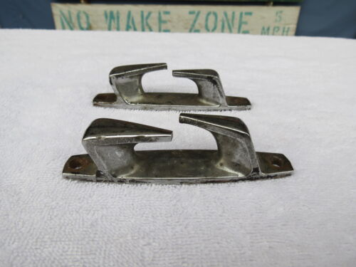 4+5/16 INCH CHROME CHOCKS SHIP BOAT DOCK CLEAT CHOCK (#691)