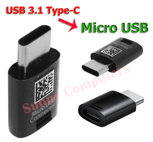 Genuine Micro USB to USB-C Converter Adapter For Samsung Galaxy S9 Plus Note8 AU