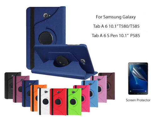 "For SamsungGalaxy Tab A6 10.1""[2016] Screen Protector/360°Rotate Leather Case"