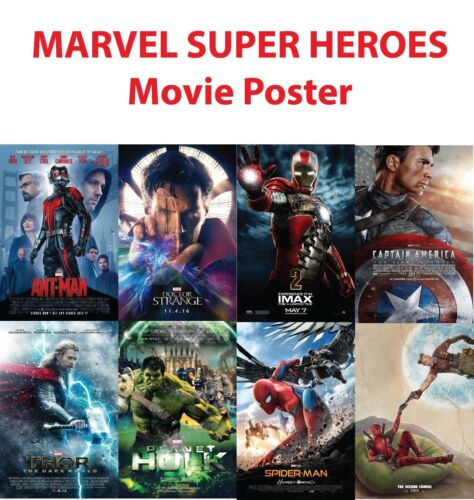 MARVEL SUPER HEROES Movie Poster High Quality wall Art poster Choose your Size