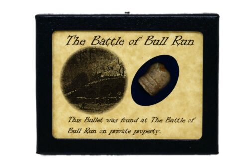 Shot Bullet Relic from The Battle of Bull Run / Manassas with Display CaseBullets - 103996
