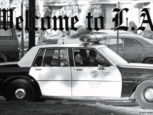 WELCOME TO LA - COP GIVING MIDDLE FINGER POSTER - 24x36 FUNNY HUMOR 51936