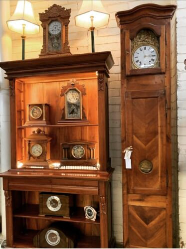 Morbier Long Case Grandfather Clock (Circa 1700's) -**Serviced & fully working**