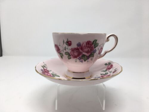 Vintage TUSCAN ENGLAND BONE CHINA Cup & Saucer  with Gold Accent