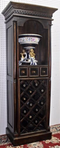 Antique Style Country French Solid Wood  Liquor Wine Cabinet Wine Rack