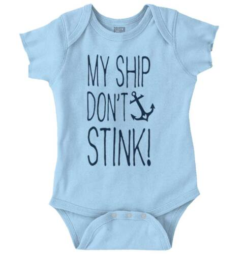 My Ship Dont Stink Funny Beach Shower Gift Newborn Romper Bodysuit For Babies