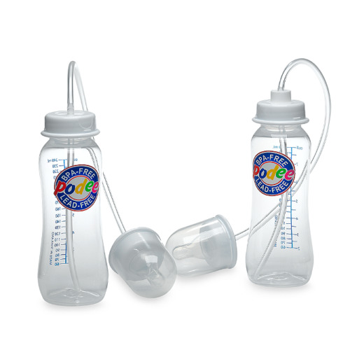 Podee Hands Free Baby Bottle System ~ (Twin Pack 2)- 9oz  Bottles