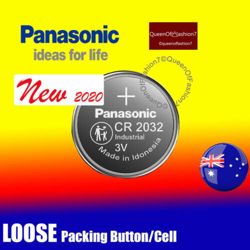 2 x  Genuine Panasonic CR2032 LOOSE Packing Battery 3V Lithium Batteries Button