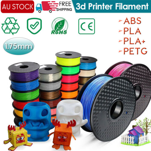 3D Printer Filament PLA/ PETG/ABS Accuracy +/- 0.02mm 2.2 LBS (1KG) Spool 1.75mm