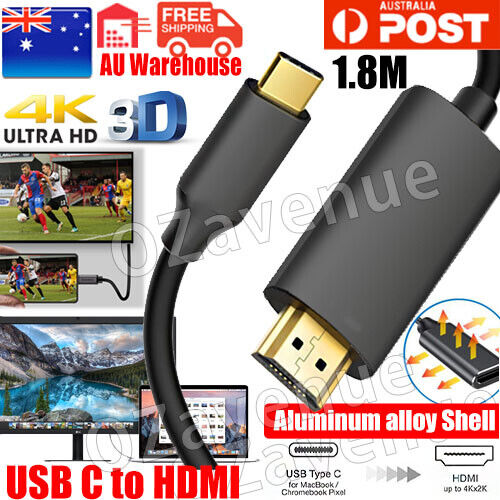 USB 3.0 Type C USB-C to 4K HDMI HDTV Adapter Cable for Samsung Galaxy S8 AC1011