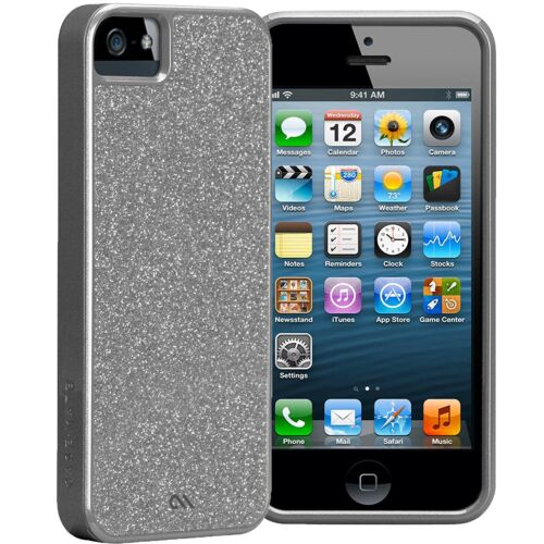Case-Mate Glam iPhone 5S 5 SE Slim Silver Shiny slim Thin case Cover CM022460