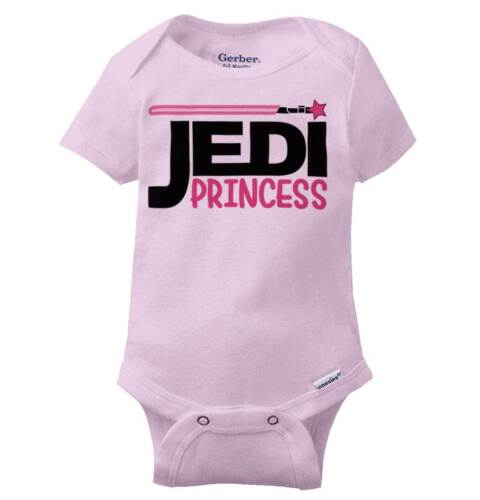 Jedi Princess Leia Cool Gift Lightsaber Star Wars Cute Funny Gerber Onesies