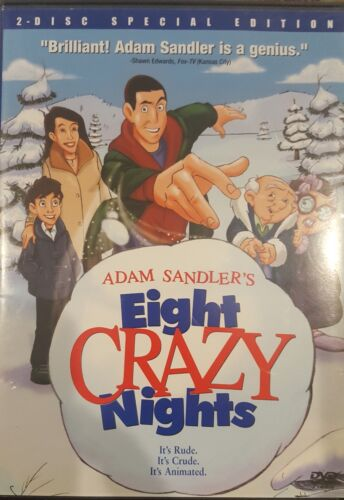 EIGHT CRAZY NIGHTS RARE DELETED DVD REGION 1 NTSC FILM COMEDY MOVIE ADAM SANDLER