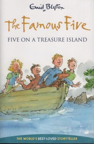 THE FAMOUS FIVE ON A TREASURE ISLAND - ENID BLYTON AS BRAND NEW PB FAST FREE POS