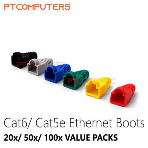 RJ45 Plug/ Multi Color Ethernet RJ45 Cable Connector Boots Cover 20 50 100 Pcs