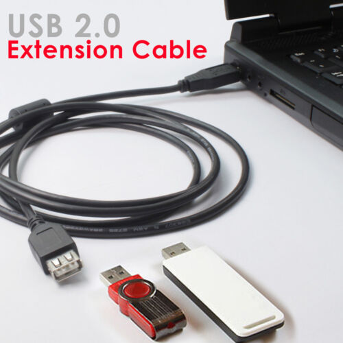 USB 2.0 A MALE to A FEMALE Extension Cable Cord Extender For PC Laptop Printer