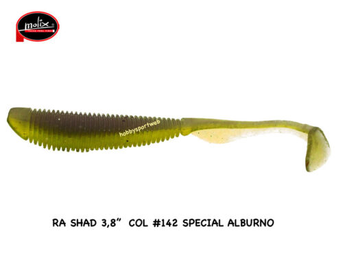 MOLIX RA SHAD 3.8'' COL.142 SPECIAL ALBURNO SPINNING MARE FIUME LAGO BLACK BASS
