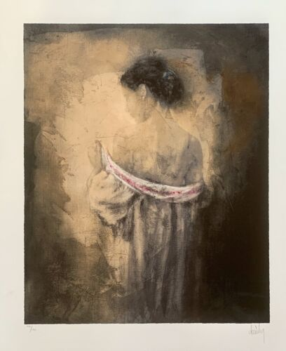 """DOMENECH """"SHYNESS"""" Hand Signed Limited Edition Giclee Art"""