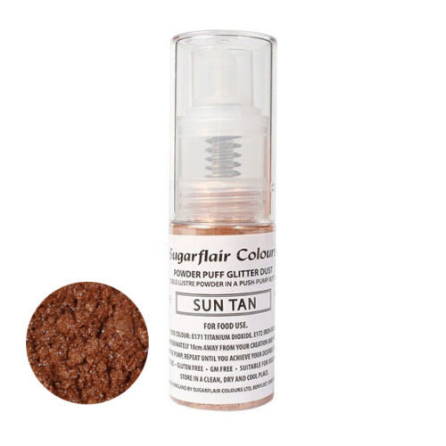 Sugarflair Powder Puff Edible Glitter Spray bez aerozolu 10g - ZON BRUINEN