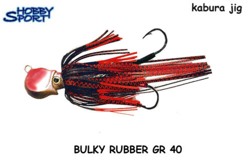KABURA JIG BULKY KILLER RUBBER 40 GR - colore ROSSO-ROSSO