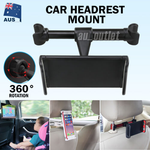 "Universal Car Seat Headrest Mount Holder for 4.4~11""iPad Phone Tablet Adjustable"
