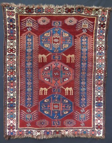 WOW! Unique Antique NWP Tribal Pictorial Rug w/ Camels. Unique! SEE ALL PHOTOS